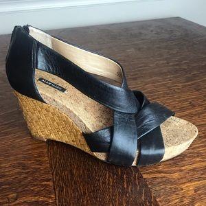 Alex Marie black wedge sandals